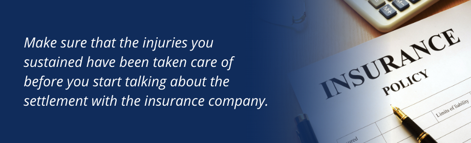 Quote about avoiding early insurance settlements.