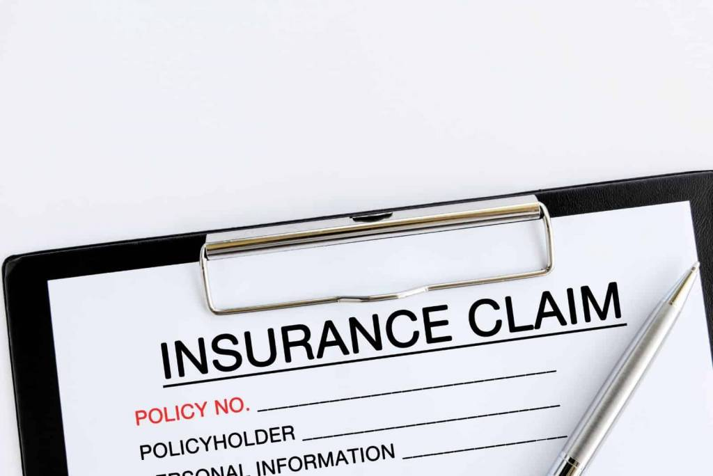 Claim form for insurance claims